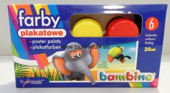 Farby Plakatowe Bambino 6 Kolorow 20 Ml